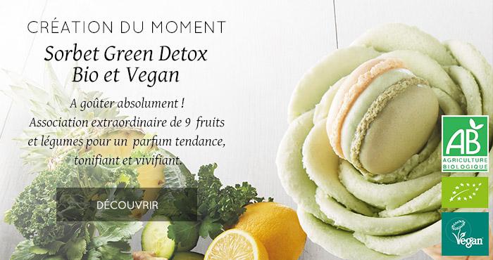 Création du moment : Sorbet Green Detox Bio et Vegan